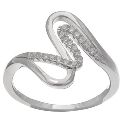 Silver Treasures White Cocktail Ring