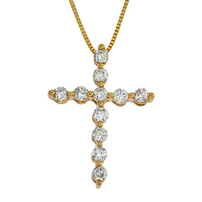1/2 CT. T.W. White Diamond 14K Gold Pendant Necklace
