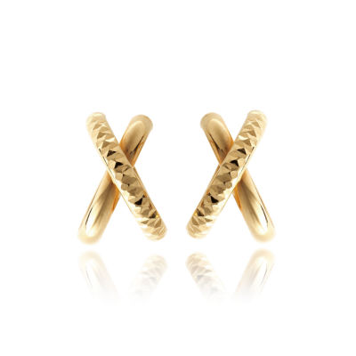 Made In Italy 14K Gold 16.5mm Hoop Earrings