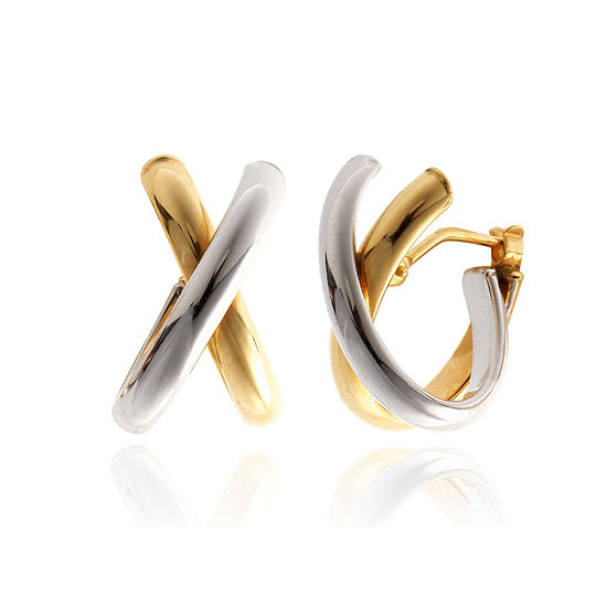 Made In Italy 14K Gold 16.5mm Hoop Earrings