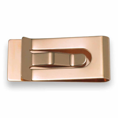 Scallop Edge Clip Plated 14K Pink Gold