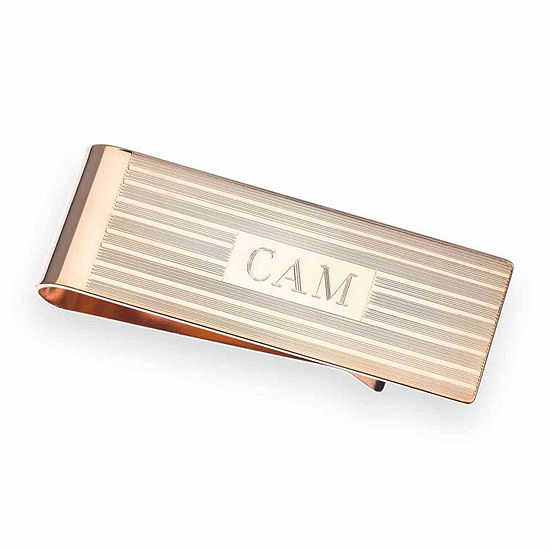 Personalized 14K Rose Gold Plated Money Clip