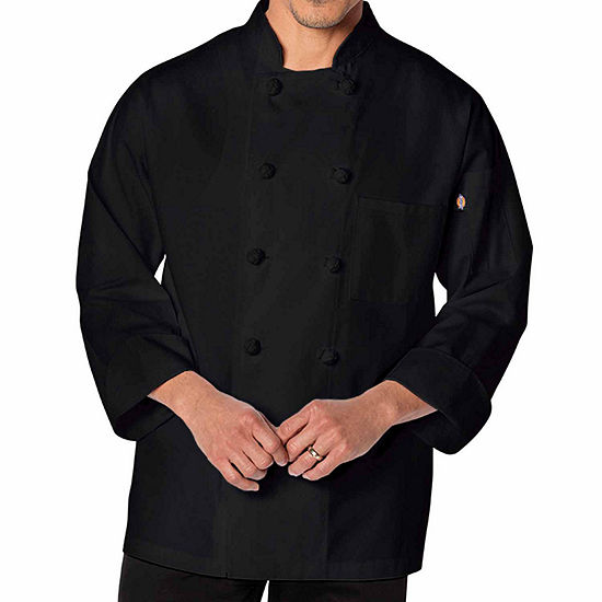 Dickies Unisex Knot Button Chef Coat