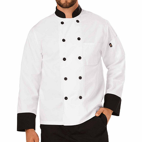 Dickies Unisex Classic Chef Coat W Piping-Big