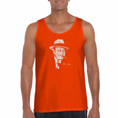 Los Angeles Pop Art Mens Crew Neck Sleeveless Tank Top Big and Tall