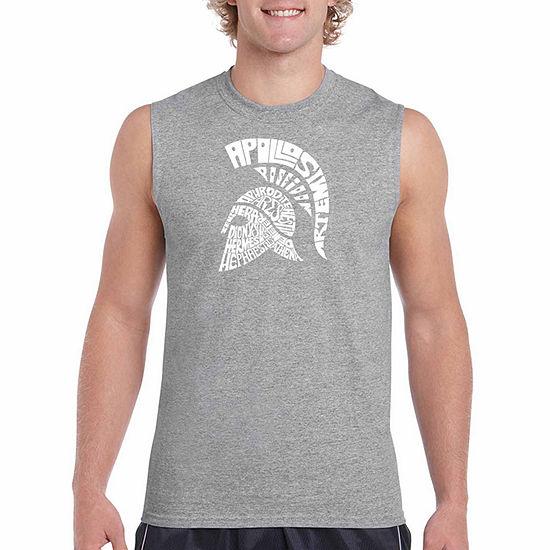 Los Angeles Spartan Sleeveless Word Art T Shirt Mens Big And Tall