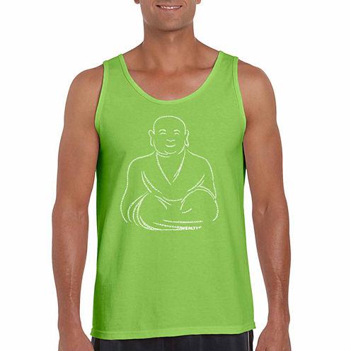 Los Angeles Pop Art Positivewishesshort Sleeve Crew Neck T-Shirt-Big And Tall