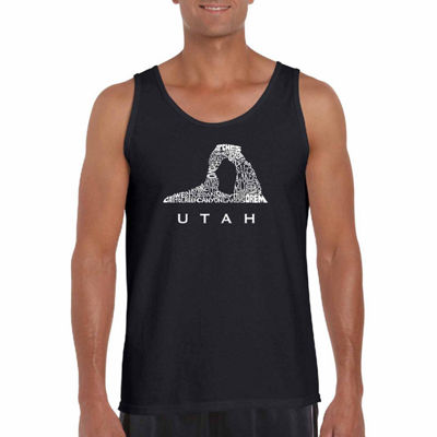 "Los Angeles Pop Art ""Utah"" Word Art Tank Top- Men's Big and Tall"""
