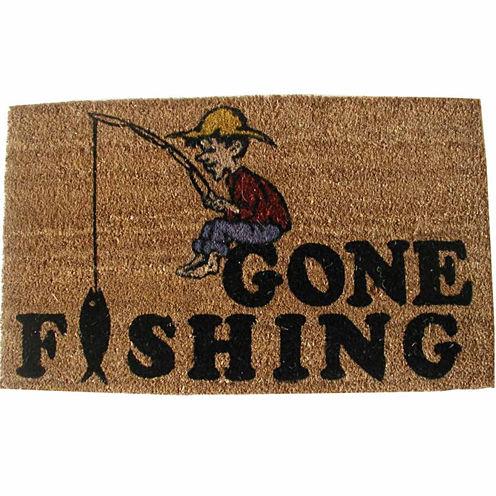 Gone Fishing Rectangular Doormat