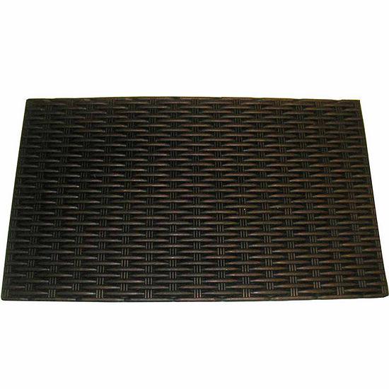 """Bronze Rubber Rectangle Doormat - 18""""X30"""""""