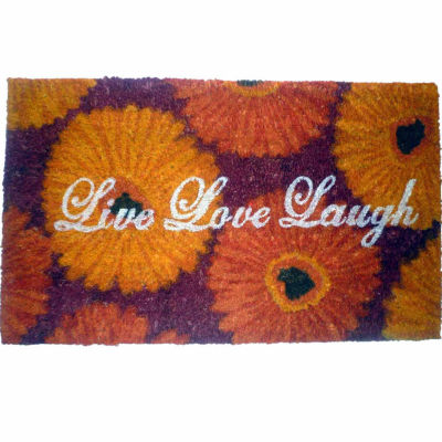 "Live Love Laugh Rectangle Doormat - 18""X30"""