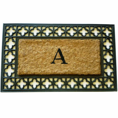 "Monogram Cross Rectangle Doormat - 18""X30"""