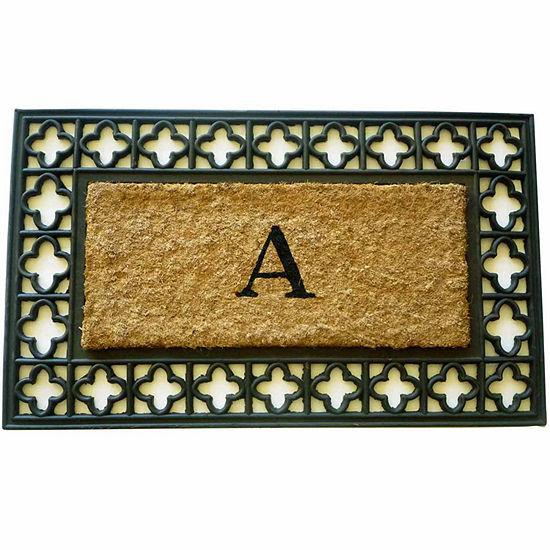 """Monogram Cross Rectangle Doormat - 18""""X30"""""""