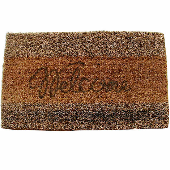 Seagrass Welcome Rectangle Doormat 18x30