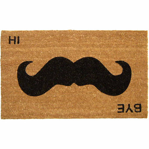 "Mustache Rectangular Doormat - 18""X30"""