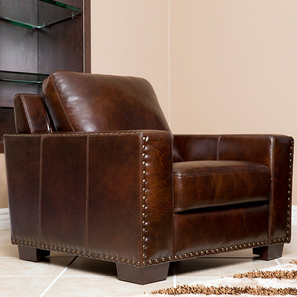Ellie Distressed Leather Chair