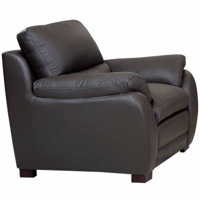 Piper Leather Pad-Arm Chair
