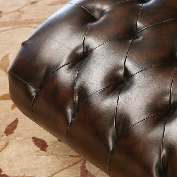 Allison Faux Leather Chaise Lounge