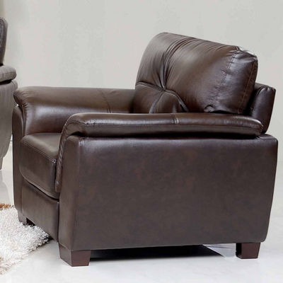 Victoria Leather Pad-Arm Chair