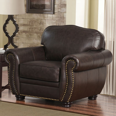 Elizabeth Leather Roll-Arm Chair