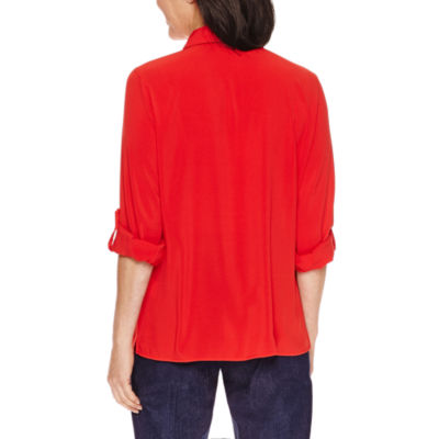 Alfred Dunner Uptown Girl Long Sleeve Button-Front Shirt