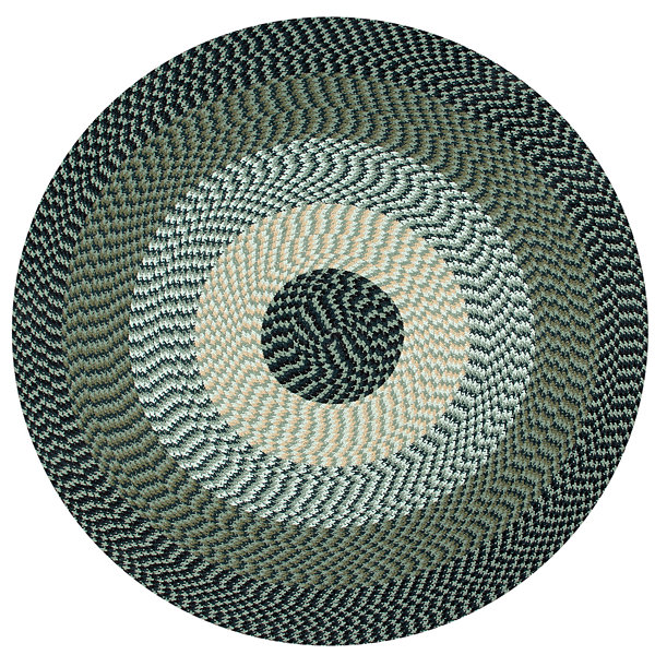 Better Trends Alpine Braided Round Reversible Rug - 6'