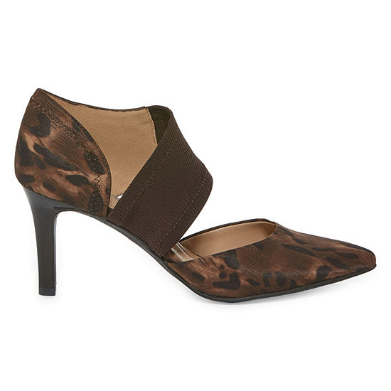 Andrew Geller Womens Tibby Pumps Cone Heel