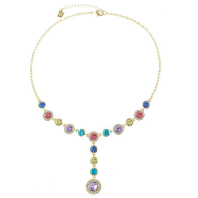 Monet Jewelry Womens Multi Color Y Necklace
