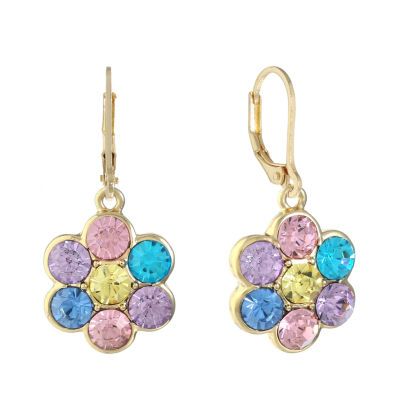 Monet Jewelry Multi Color Drop Earrings