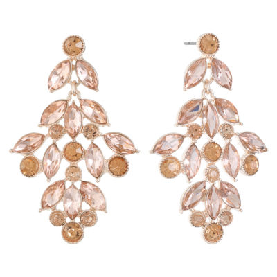 Monet Jewelry Orange Chandelier Earrings