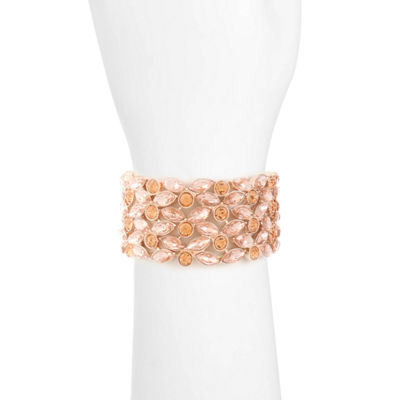Monet Jewelry Womens Orange Stretch Bracelet