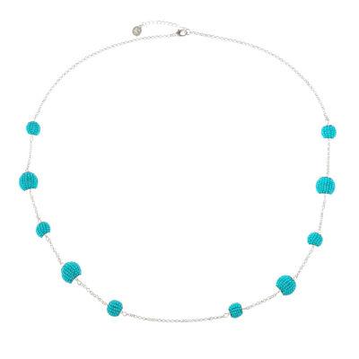 Liz Claiborne Womens Blue Strand Necklace