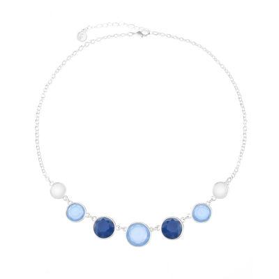 Liz Claiborne Womens Blue Collar Necklace