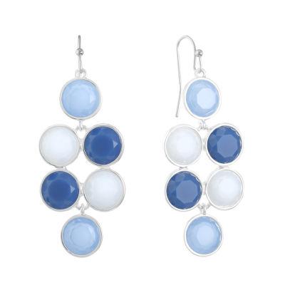 Liz Claiborne Blue Round Chandelier Earrings