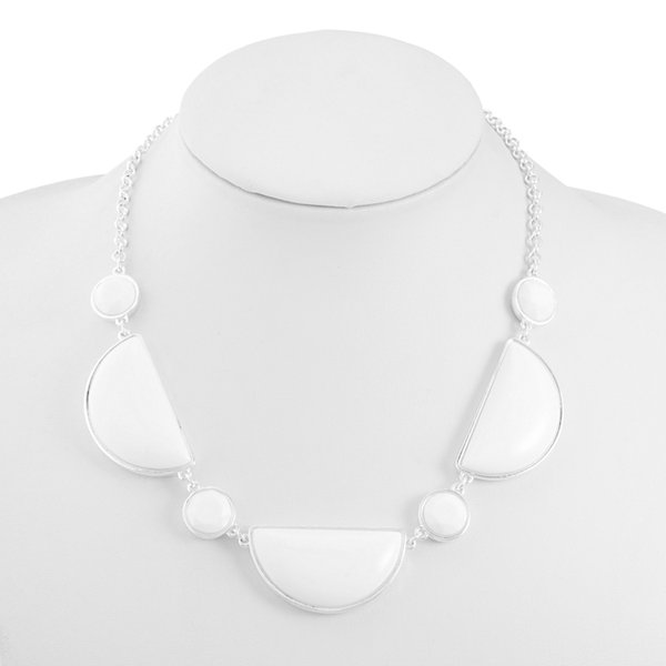 Liz Claiborne White Statement Necklace