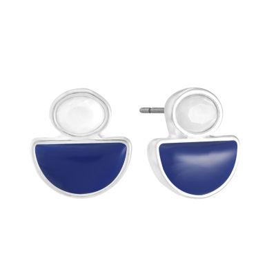 Liz Claiborne Multi Color 17mm Stud Earrings