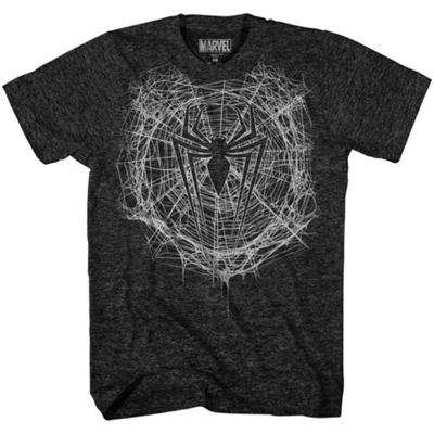 Webbed Spiderman Logo Graphic Tee