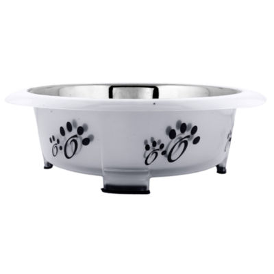 Color Splash Designer Oval Fusion Bowl in Gray- Small