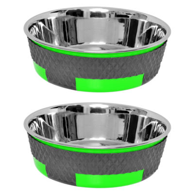 Color Splash Designer Trimond Bowl in Green - Medium - Set of 2
