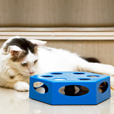 Iconic Pet Knock 'n' Roll Interactive Spinning Cat Toy