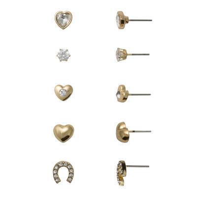 Sensitive Ears 5 Pair Brass Earring Set