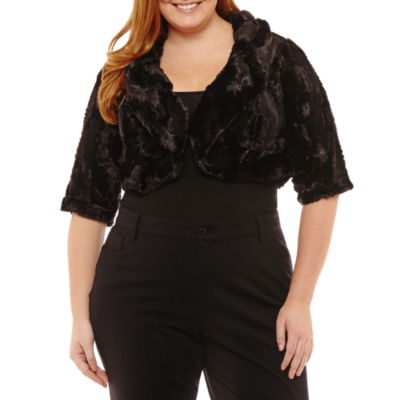 Robbie Bee 3/4 Sleeve Shrug - Plus
