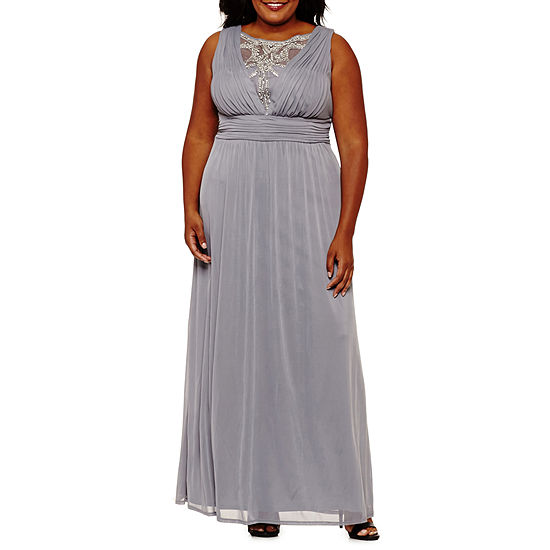 Melrose Sleeveless Embellished Evening Gown Plus Jcpenney
