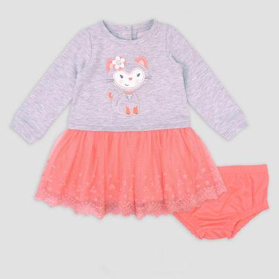 Nanette Baby Long Sleeve Tutu Dress-Baby Girls
