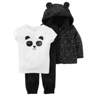 Carter's Little Baby Basics 3-pc. Pant Set Girls