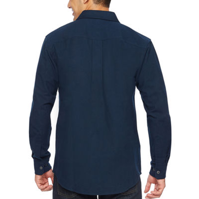 Smith Workwear Mens Long Sleeve Button-Front Shirt