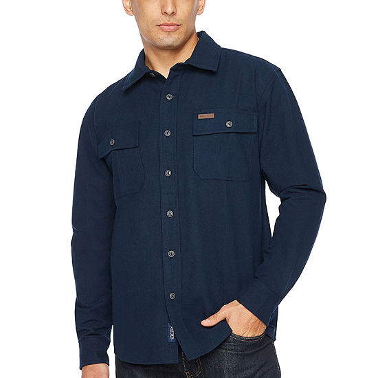 Smith Workwear Mens Long Sleeve Button Front Shirt