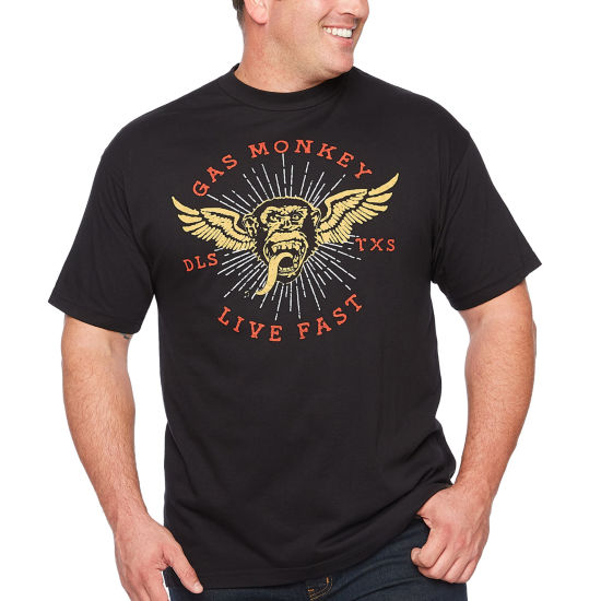 Gas Monkey Short Sleeve Graphic T-Shirt-Big and Tall