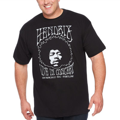 Hendrix Mens Crew Neck Short Sleeve Graphic T-Shirt-Big and Tall