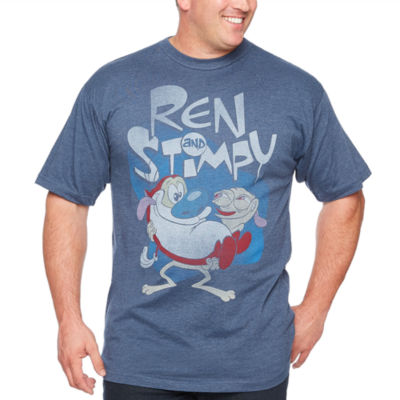 Ren And Stimpy Short Sleeve Graphic T-Shirt-Big and Tall
